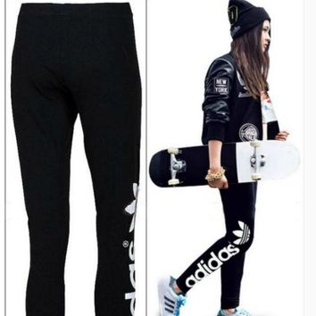 MDIGONT NEW BRAND LETTER Adidas WOMEN LEISURE SPORTS LEGGINGS