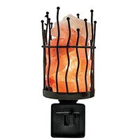 Himalayan Glow 1802 Home Decor Himalayan Pink Salt Pillar Style Night Light, 5.2 Inches Height, Nightlight with 100% Natural Pink Rock Salt Chunks, Bulb and 360-degree Rotatable Plug-In