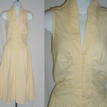 Vintage 1950s Yellow Day Dress by ZoeAmaris on Etsy