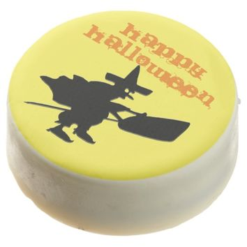 Happy Halloween Black Witch Chocolate Dipped Oreo