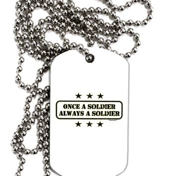 Always A Soldier Adult Dog Tag Chain Necklace