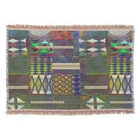 African style patchwork design throw