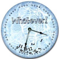 """WHATEVER wall art clock novelty large 10 1/2"""""""