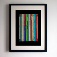 Radiohead 'Pablo Honey' Album As Books Poster Print