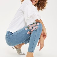 MOTO Floral Embroidered Joni Jeans