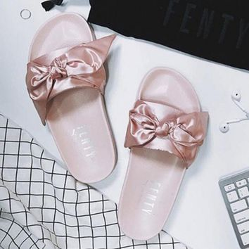 PUMA fenty rihanna silk Bow Slide Sandals Shoes sneakers spring 10-color -17