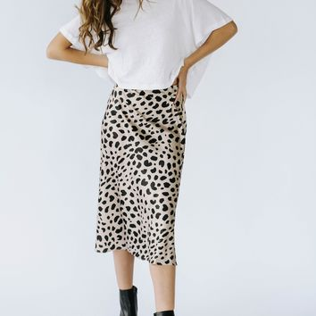 Wild Side Silk Skirt (Ships 5/28)