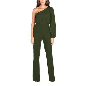 Single Shoulder Occasion Jumpsuit