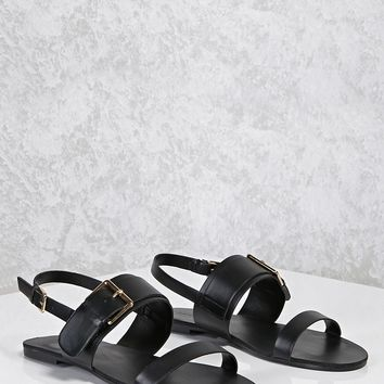 Buckled Ankle Strap Sandals