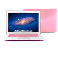 "GMYLE (R) Pink Crystal See Through Hard Shell Snap On Carrying Case Skin Slim Fit for 13 "" Apple Macbook Air - With TPU Pink Protective Keyboard Cover (with 1 Year Warranty from GMYLE) (Fit For 2013 Model)"