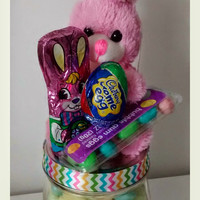 Easter candy jar,  candy jar,  Easter mason jar,  Easter chocolate,  Easter bunny