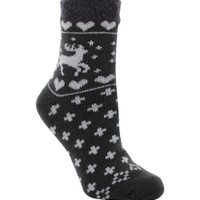 Yaktrax Women's Cozy Cabin Moose Crew Socks | DICK'S Sporting Goods