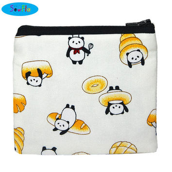 NEW! Panda Zipper Bag-Cute Coin Purse-Food Change Purse-Bread Change Wallet-Japanese Fabric Bag