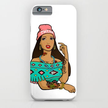 Hipster Pocahontas iPhone & iPod Case by LookHUMAN