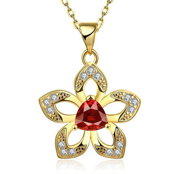 New 2016 Necklace Women jewelry 18K Gold necklaces & pendants WDAZNHQW