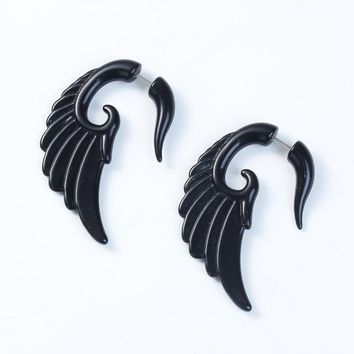 DoreenBeads 2017 Acrylic Earring Plugs And Tunnels Piercing Men Body Jewelry Wings Feathers Twist Helix Ear Taper Expanders