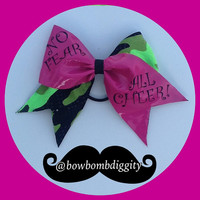No fear all cheer cheerleading quote bow