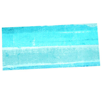 "CarolLynn Tice ""Sand Bar"" Teal Blue Desk Mat"