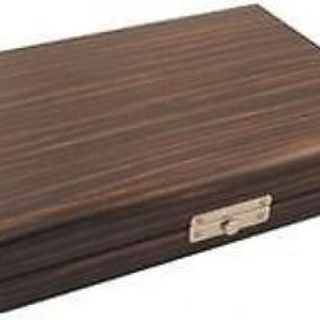 new Timber Ebony Wood Personal Travel Cigar Humidor w/  Humidifier Hold Up to 24