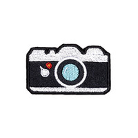 Camera Patch Iron On Applique Embroidered Patches Machine Embroidery Design Emoji