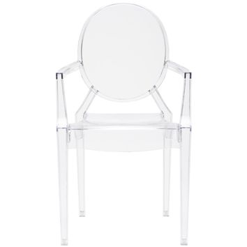 Burton Ghost Arm Chair In Clear (Set of 2)