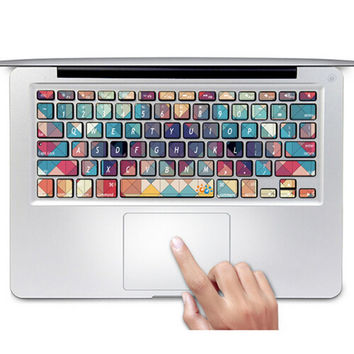 Fashion Ultra-thin CONTRAST COLOR Keyboard Stickers / Decals For SAMSUNG450R5