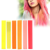 JUICY | A pack of 6 Hair Chalks for your highly vibrant hair coloring - yellow, beige, red, orange, salmon & raspberry!