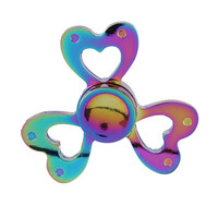 Rainbow Fidget Spinner- Hearts