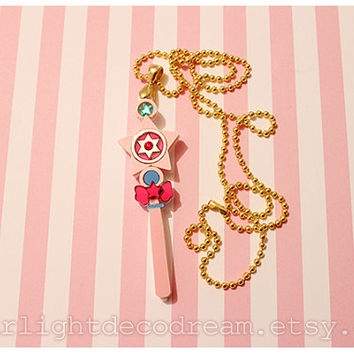 MADE to ORDER Persia the Magic Fairy Wand Necklace Acrylic Necklace for Mahou Kei, Magical Girl Fashion