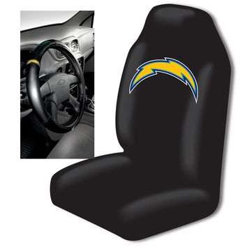 San Diego Chargers NFL Car Seat Cover and Steering Wheel Cover Set