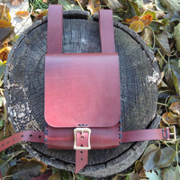 Red-brown leather Adventure pouch utility pouch / leg pouch / belt pouch / thigh pouch / thigh bag / pirate pouch 2
