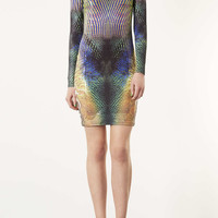 Animal Bodycon Dress - Dresses - Clothing - Topshop USA