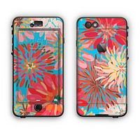 The Brightly Colored Watercolor Flowers Apple iPhone 6 LifeProof Nuud Case Skin Set