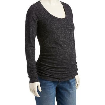 Old Navy Maternity Space Dye Scoop Neck Tee