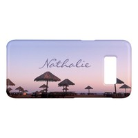 California palapa beach sunset photo custom name Case-Mate samsung galaxy s8 case