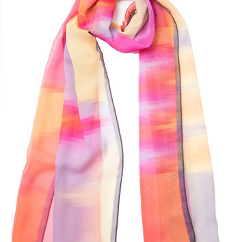 Barbara-Sheer Silk Scarf by Mila Schön-Fuchsia
