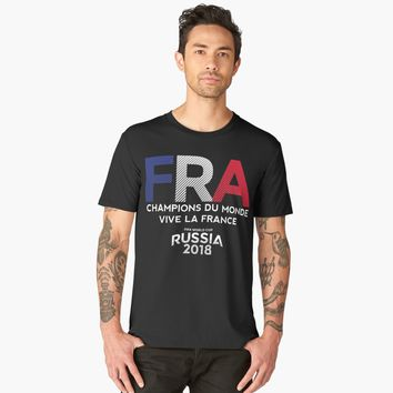 'France | CHAMPIONS DU MONDE VIVE LA FRANCE | Russia 2018' Men's Premium T-Shirt by hypnotzd