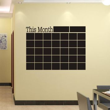 Calendar Chalkboard Wall Sticker