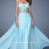 Full Length Strapless Sweetheart Formal Gown by La Femme