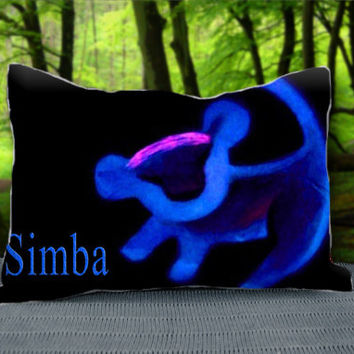 "Disney Simba Lion King Logo Custom Pillow Case 30"" x 20"""
