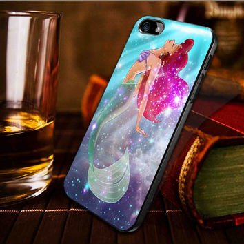 Ariel the little mermaid on galaxy nebula -  iPhone 4 / iPhone 4S / iPhone 5 / samsung s2 / samsung s3 / samsung s4 Case Cover