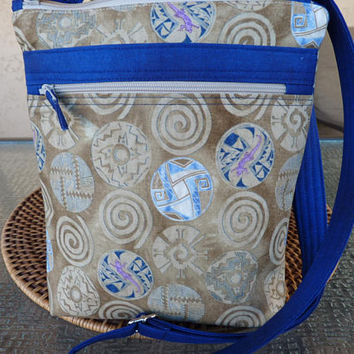 Handcrafted Southwest Small Cross Body Bag/Sling Bag/Small Purse with Outside Pocket and Adjustable Strap