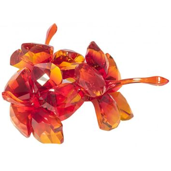 Swarovski Crystal Flower Figurine RED HIBISCUS -5136828