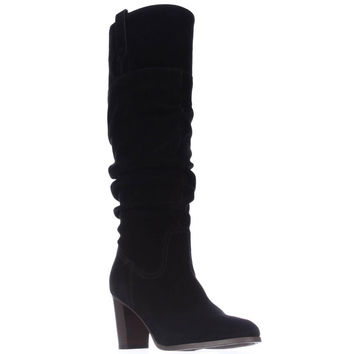 Tommy Hilfiger Trinety Knee High Slouch Boots, Black, 9.5 US