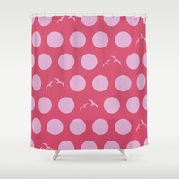 Polka Dot Bird V.2 Shower Curtain by C Designz