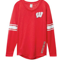 University of Wisconsin Bling V-neck Varsity Crew - PINK - Victoria's Secret