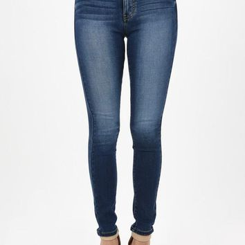 High Rise Stretchy Dark Skinny Denim