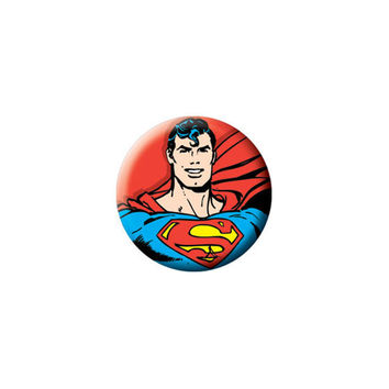 Superman Smiling Button