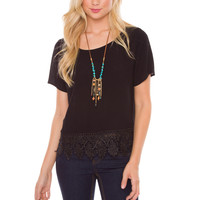 Victoria Lace Top - Black