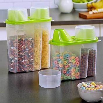 Cereal, Grains, Rice, Flour, Sugar Storage Canister Organizer Dispenser